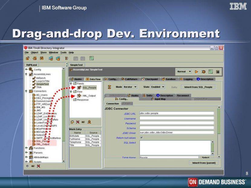 Tivoli Directory Integrator IDE